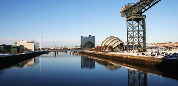 The Armadillo - Glasgow SECC - alongside the River Clyde